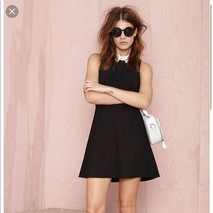 Nasty gal}• opposites attract black & white dress